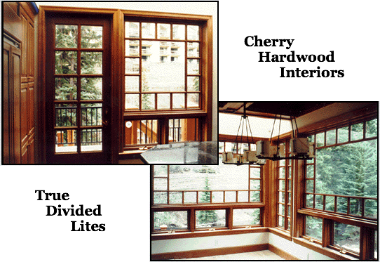 copper clad windows with true divided lites